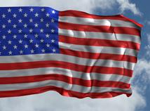 Flag day in US  screensavers  nfsAmerican3DFlag