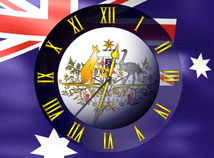 Australia  screensavers  nfsAustraliaFlagClock