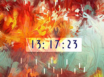 Digital Clock  screensavers  nfsAutumnColorClock