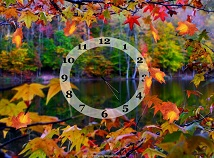Autumn  screensavers  nfsAutumnMapleClock