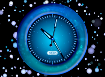 Analog  screensavers  nfsBlueAbstractClock