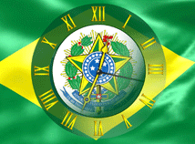 Brasil  screensavers  nfsBrasilFlagClock