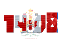 Flags  screensavers  nfsCanadaDigitalClock