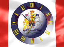 Canada  screensavers  nfsCanadaFlagClock