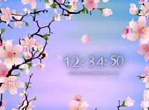 Digital Clock  screensavers  nfsCherryTree