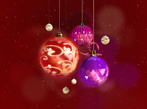 New Year  screensavers  nfsChristmasBalls3D