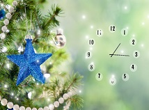 Clocks  screensavers  nfsChristmasBlueStarClock