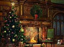 Christmas  screensavers  nfsChristmasFireplace