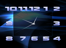 Analog  screensavers  nfsclock01HD