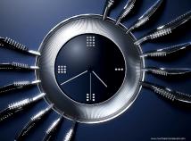 Clocks  screensavers  nfsClock16Spider