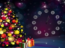 Clocks  screensavers  nfsColoredChristmasTree