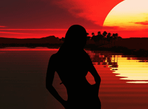 Girls  screensavers  nfsDancingAtSunset01
