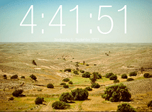 Digital Clock  screensavers  nfsDesert