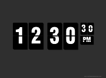 Digital Clock  screensavers  nfsDigitalClock05