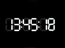Digital Clock  screensavers  nfsDigitalClock06