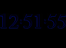 3D  screensavers  nfsDigitalClock3D