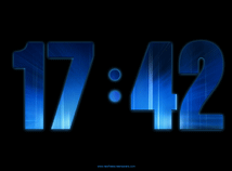 Digital Clock  screensavers  nfsDigitalClock_v04