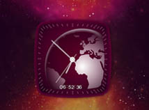 Clocks  screensavers  nfsEarthSpaceClock