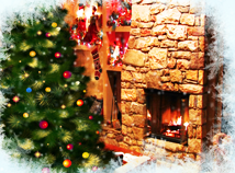 Christmas  screensavers  nfsFireplaceWindow