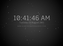 Digital Clock  screensavers  nfsFlyingNumbers