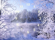 Analog  screensavers  nfsForestWinterClock