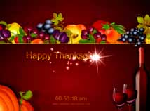 Thanksgiving day  screensavers  nfsFruitThanksgiving