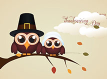 Thanksgiving day  screensavers  nfsGratefulOwls