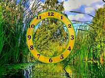 Nature  screensavers  nfsGreenYellowClock