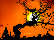 Halloween  screensavers  nfsHalloweenRedMoon