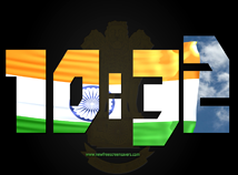 Flag Clock  screensavers  nfsIndiaDigitalClock