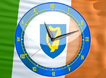 Flag Clock  screensavers  nfsIrelandAnalogClock