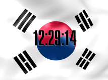 Korea  screensavers  nfsKoreaFlagClock