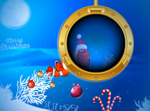 Fish  screensavers  nfsMerryChristmasUnderwater