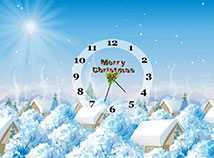 Christmas  screensavers  nfsMerryChristmasandClock