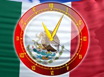 Flag Clock  screensavers  nfsMexicoAnalogClock
