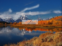 Nature  screensavers  nfsMountainAutumnClock