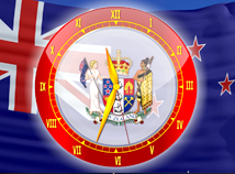 Flag Clock  screensavers  nfsNewZealandAnalogClock