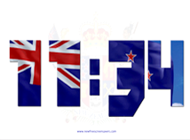Flag Clock  screensavers  nfsNewZealandDigitalClock