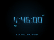 Digital Clock  screensavers  nfsOldDigitalClock