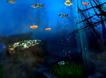 Fish  screensavers  nfsPiratetreasureUnderwater