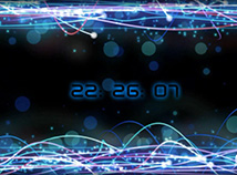 Digital Clock  screensavers  nfsPlayOfLight