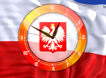 Flag Clock  screensavers  nfsPolandAnalogClock