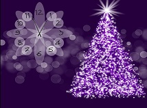 Clocks  screensavers  nfsPurpleChristmasTree