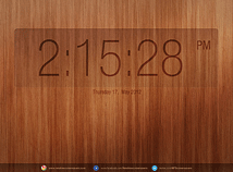 Digital Clock  screensavers  nfsSimpleWoodClock