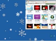 New Year  screensavers  nfsSnowfall01