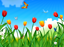 Spring  screensavers  nfsSpringTulips