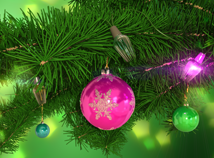 New Year  screensavers  nfsSpruceTwig3D