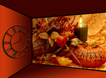 Thanksgiving day  screensavers  nfsThanksgivingClock01