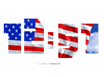 Flag day in US  screensavers  nfsUSADigitalClock