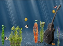 Fish  screensavers  nfsUnderwaterGuitar